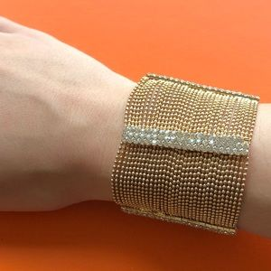 Gold ChainMail & Crystal Bracelet